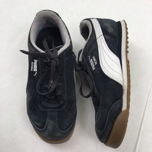 Puma Roma Shoes 12 Toddler Black White Sneakers